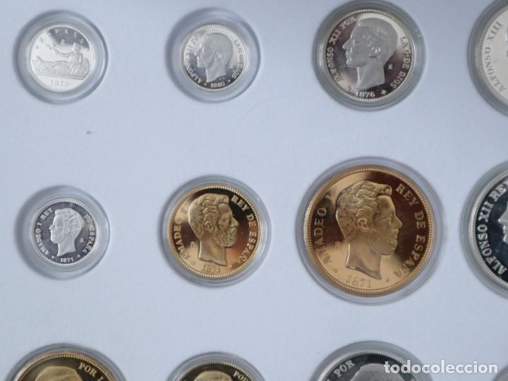 Antigüedades: Emisión de 24 monedas de plata que forman la historia de la peseta. - Foto 8 - 234585015