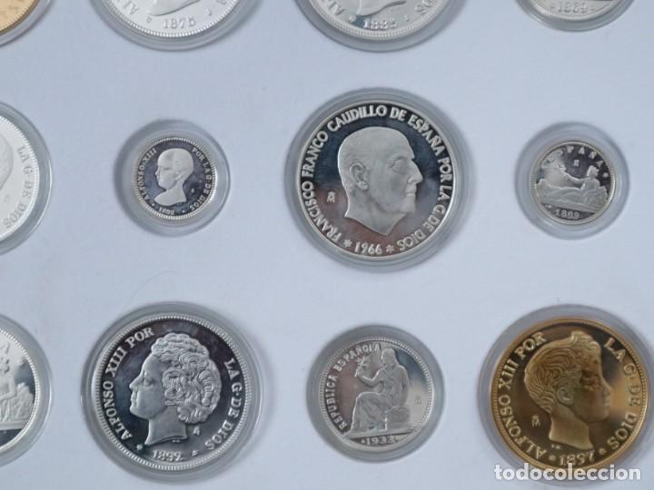 Antigüedades: Emisión de 24 monedas de plata que forman la historia de la peseta. - Foto 10 - 234585015