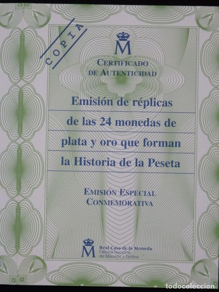 Antigüedades: Emisión de 24 monedas de plata que forman la historia de la peseta. - Foto 12 - 234585015