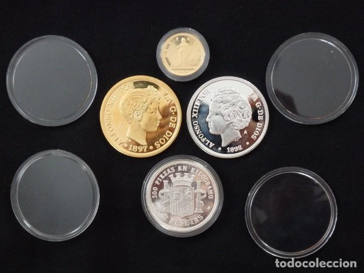 Antigüedades: Emisión de 24 monedas de plata que forman la historia de la peseta. - Foto 17 - 234585015