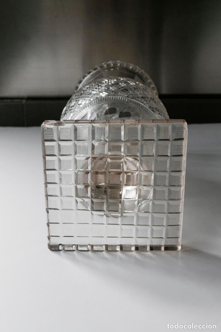 Antigüedades: Magnífico jarrón vidrio tallado 1860 aprox. 30 cm - Foto 5 - 234589845