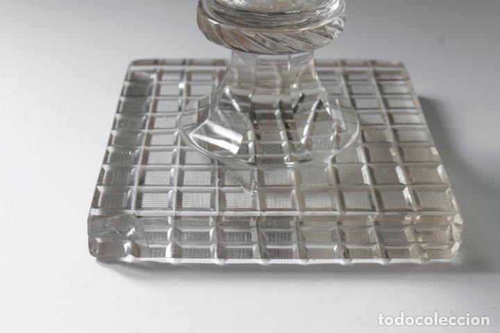 Antigüedades: Magnífico jarrón vidrio tallado 1860 aprox. 30 cm - Foto 6 - 234589845