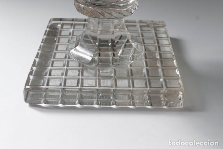 Antigüedades: Magnífico jarrón vidrio tallado 1860 aprox. 30 cm - Foto 7 - 234589845