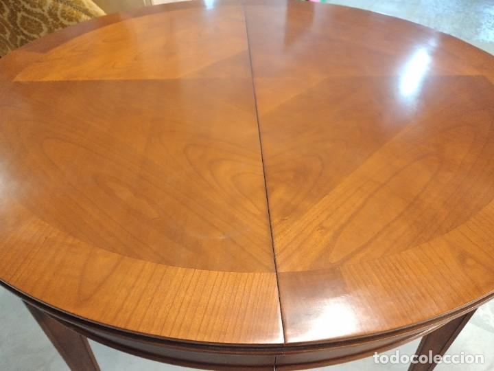 Antigüedades: Preciosa mesa extensible de madera noble, con adornos de laton en las patas.años 40/60 - Foto 11 - 234617425