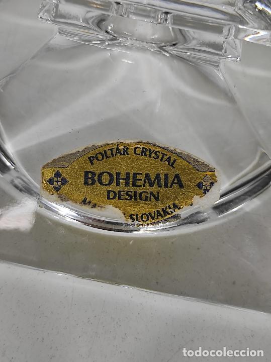 Antigüedades: Candelabro - Cristal de Bohemia - Marca Poltar Crystal - Vintage - Foto 3 - 234633340