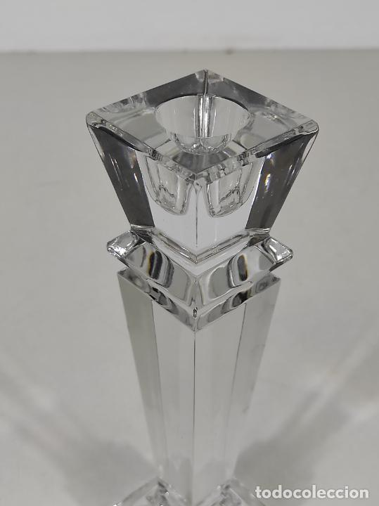 Antigüedades: Candelabro - Cristal de Bohemia - Marca Poltar Crystal - Vintage - Foto 6 - 234633340