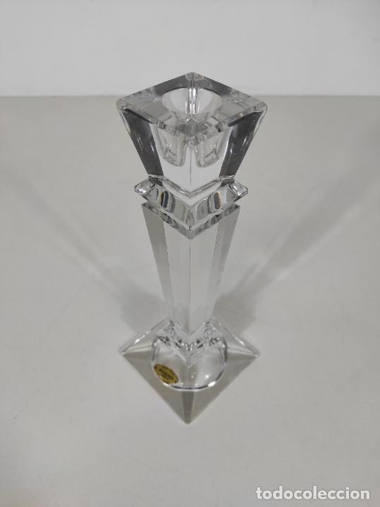 Antigüedades: Candelabro - Cristal de Bohemia - Marca Poltar Crystal - Vintage - Foto 7 - 234633340