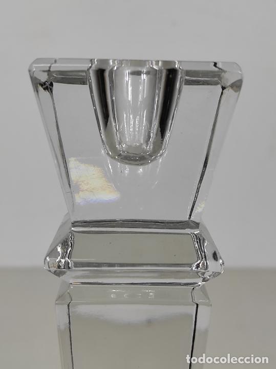 Antigüedades: Candelabro - Cristal de Bohemia - Marca Poltar Crystal - Vintage - Foto 8 - 234633340