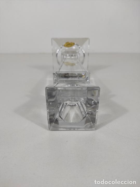 Antigüedades: Candelabro - Cristal de Bohemia - Marca Poltar Crystal - Vintage - Foto 11 - 234633340