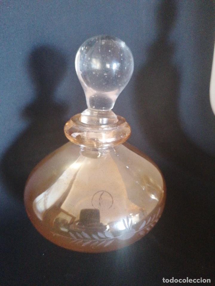 Antigüedades: Antiguo juego de tocador vidrio soplado y tallado GPS - Foto 5 - 234674970