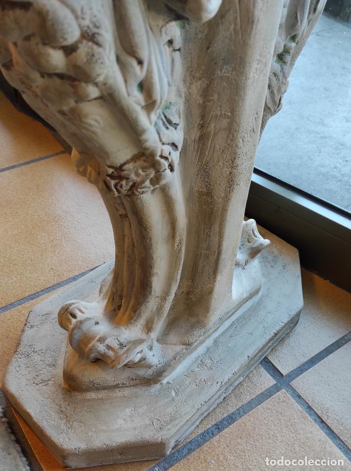 Antigüedades: Curiosa Ménsula - Esfinges de Terracota - Sobre Cristal Biselado - Decorativa Consola, Mesa - Foto 15 - 234692945