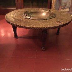 Antigüedades: MESA BRASERO DE CENTRO, ANTIGUA. 100 X 45 CMTS.. Lote 234737830