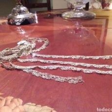 Antiquités: ENCAJE DE BOLILLO DE HILO DE PLATA DORADA. Lote 234739900