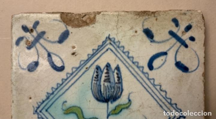 Antigüedades: RARO AZULEJO DELFT (s.XVII) - Foto 2 - 234747600
