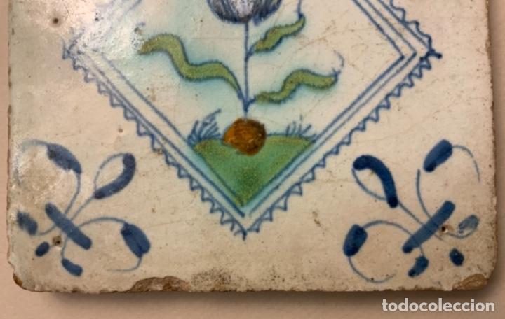 Antigüedades: RARO AZULEJO DELFT (s.XVII) - Foto 4 - 234747600
