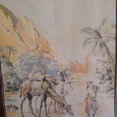 Antigüedades: TAPIZ CON ESCENA DEL NORTE DE AFRICA. Lote 234760130