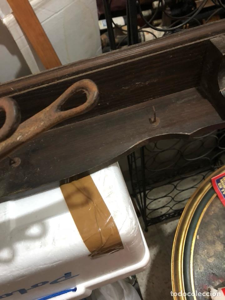 Antigüedades: Bonito frente de cocina, madera y los cazos de bronce, sellados - Foto 4 - 234772015