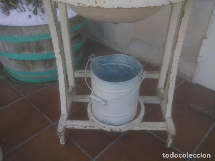 Antigüedades: ANTIGUO MUEBLE LAVABO CON ESPEJO AÑOS;50S - Foto 16 - 234777995