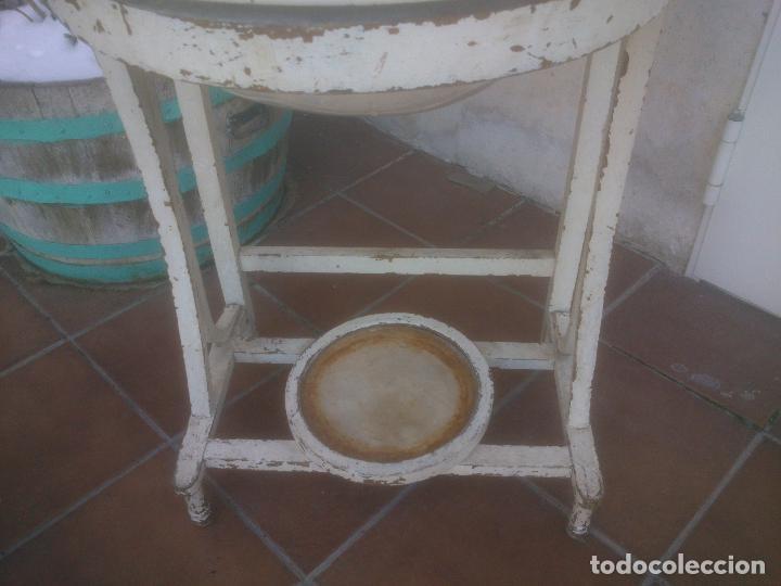 Antigüedades: ANTIGUO MUEBLE LAVABO CON ESPEJO AÑOS;50S - Foto 20 - 234777995