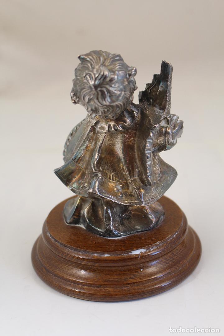 Antigüedades: Figura monaguillo chapado plata de ley - Foto 4 - 268863164