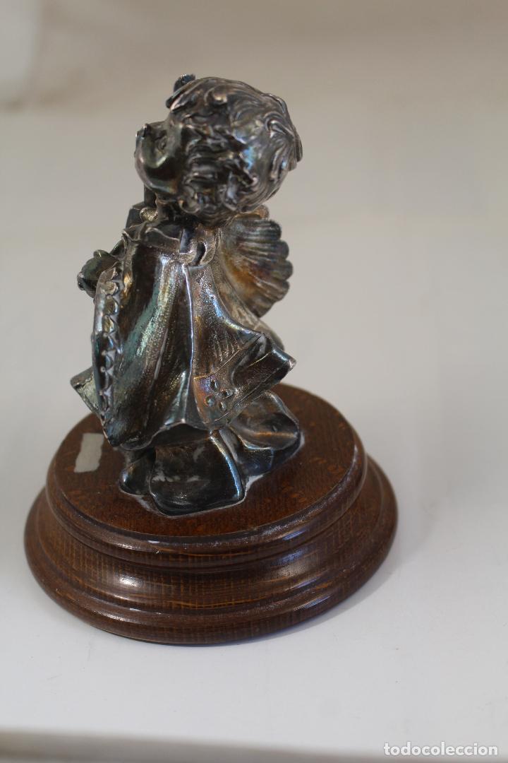 Antigüedades: Figura monaguillo chapado plata de ley - Foto 5 - 268863164