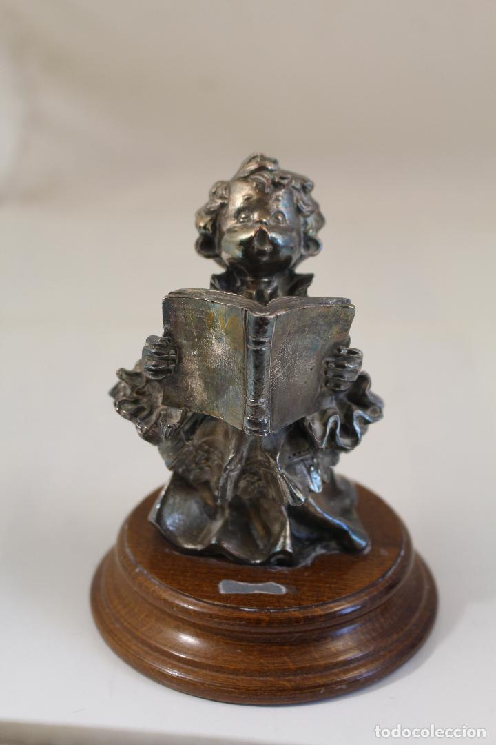 Antigüedades: Figura monaguillo chapado plata de ley - Foto 2 - 268868904