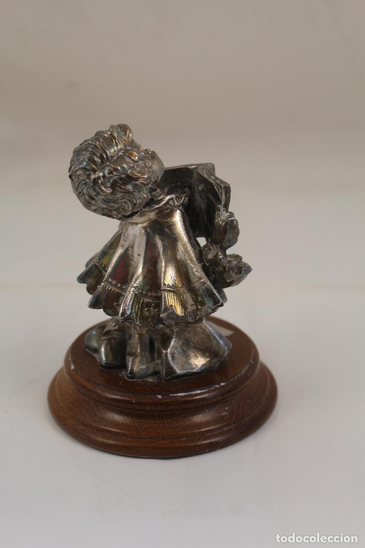 Antigüedades: Figura monaguillo chapado plata de ley - Foto 3 - 268868904