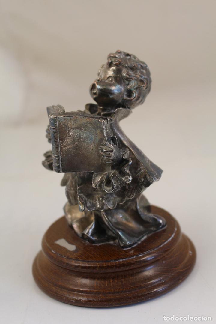 Antigüedades: Figura monaguillo chapado plata de ley - Foto 4 - 268868904