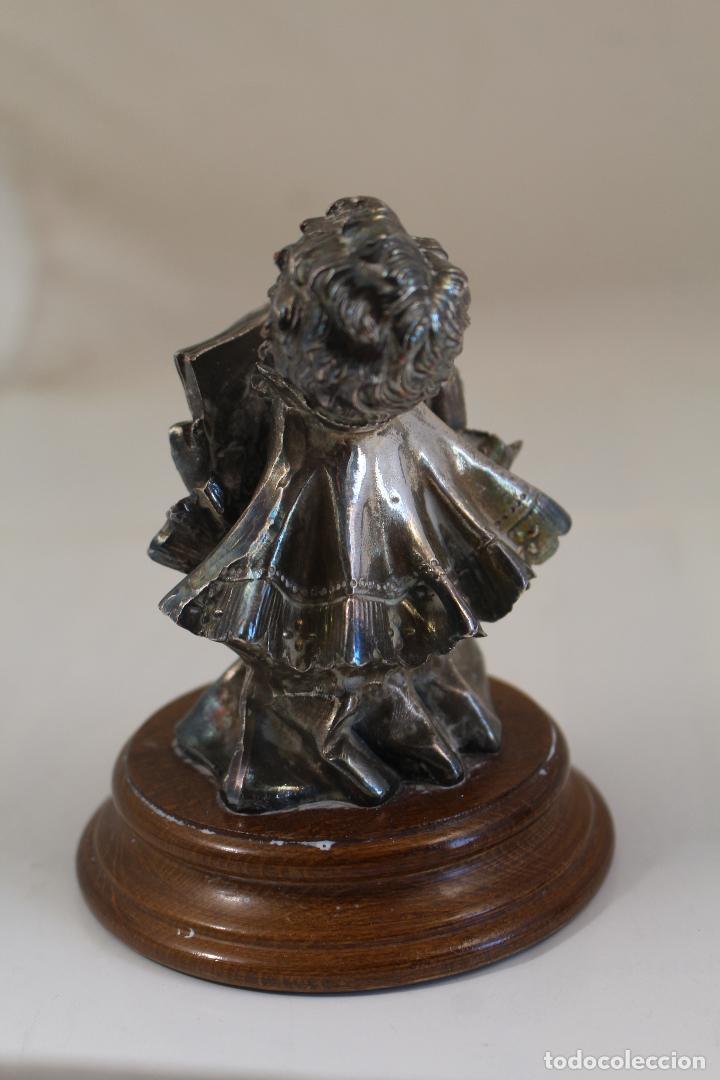 Antigüedades: Figura monaguillo chapado plata de ley - Foto 7 - 268868904