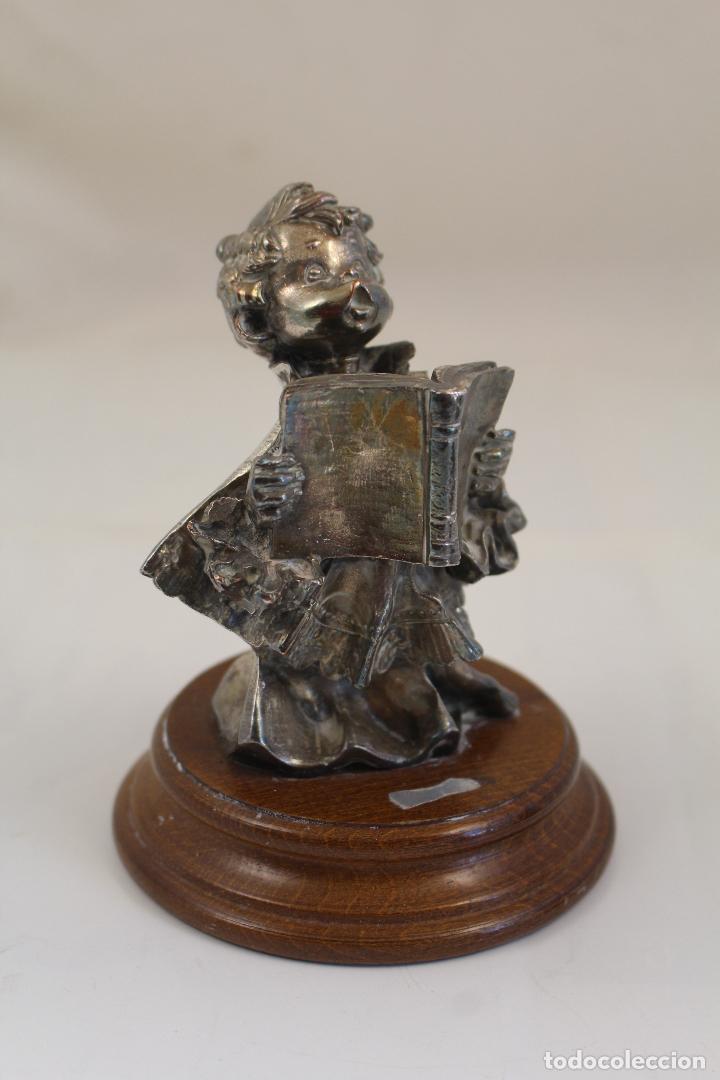 FIGURA MONAGUILLO CHAPADO PLATA DE LEY (Antigüedades - Platería - Plata de Ley Antigua)