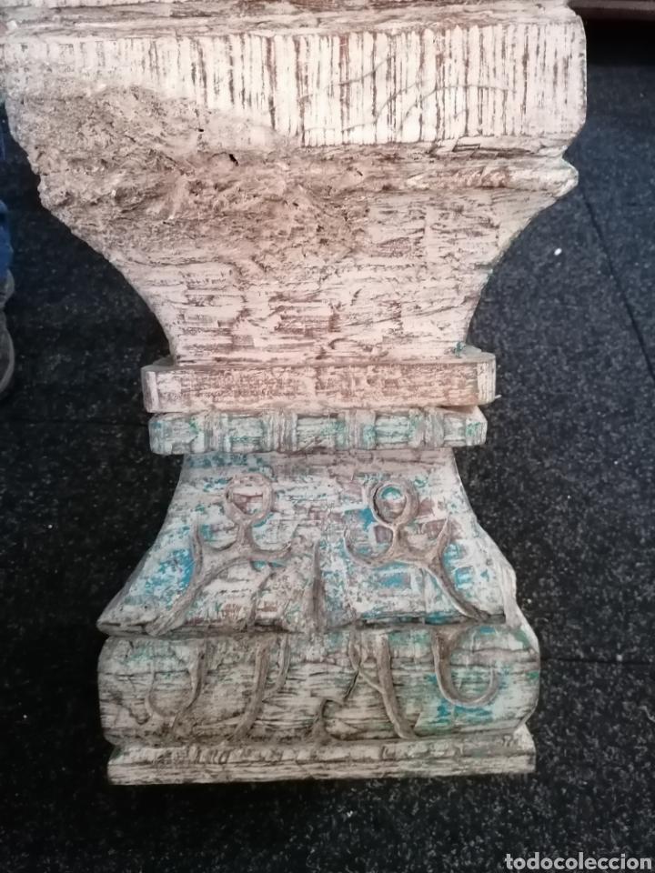 Antigüedades: Pedestal o basas de madera - Foto 3 - 234801250
