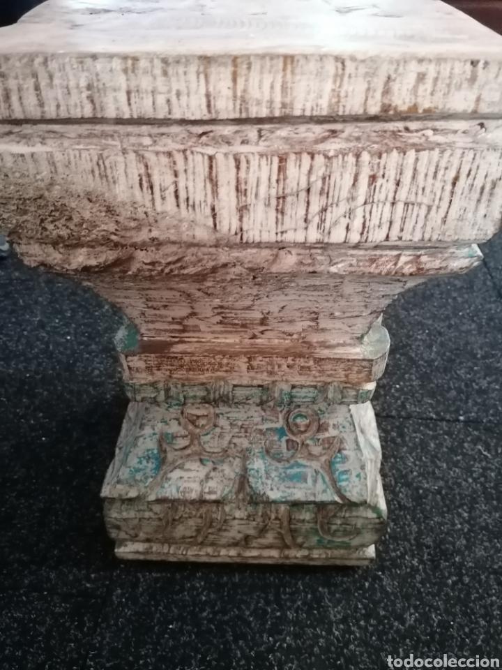 Antigüedades: Pedestal o basas de madera - Foto 4 - 234801250