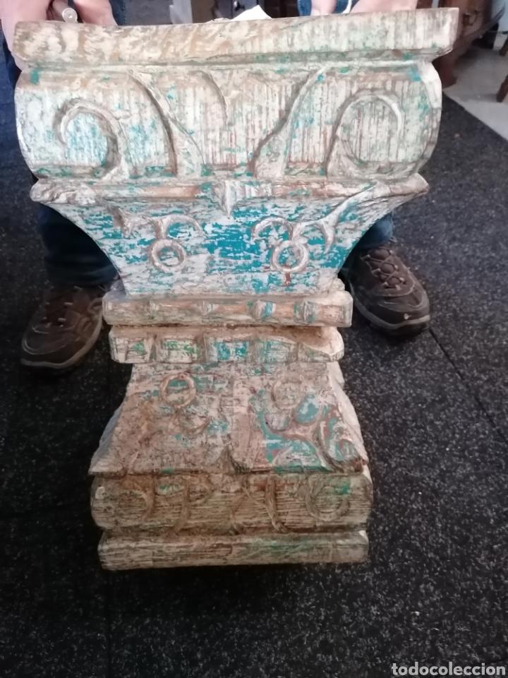 Antigüedades: Pedestal o basas de madera - Foto 6 - 234801250