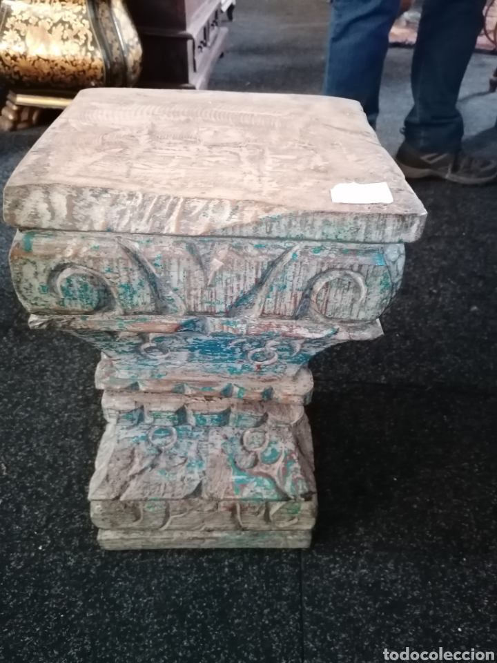 PEDESTAL O BASAS DE MADERA (Antigüedades - Hogar y Decoración - Maceteros Antiguos)