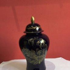 Antiguidades: ANTIGUO JARRON CHINO DE PORCELANA BASE DE PLATA - VER FOTOS. Lote 234834075