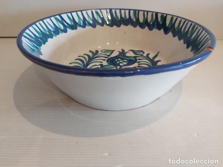 Antigüedades: FUENTE-LEBRILLO DE FAJALAUZA / 25 CM Ø X 8 CM ALTO / PEQUEÑA MUESCA / VER FOTOS. - Foto 7 - 283165078