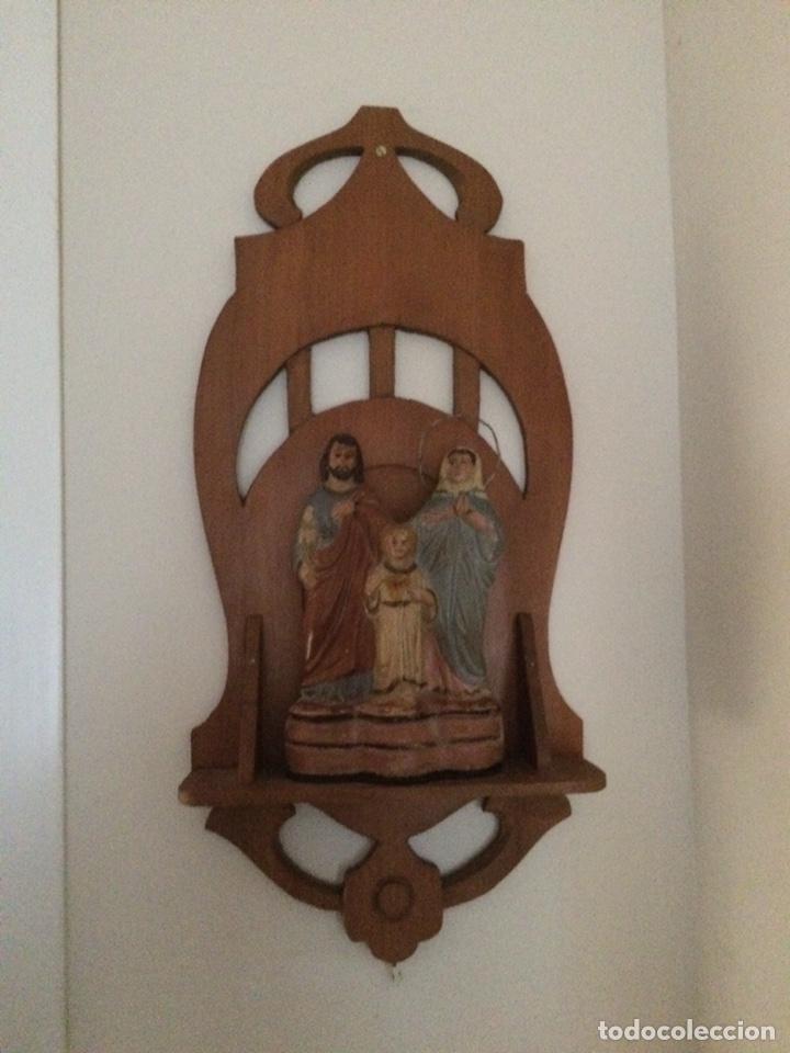 Antigüedades: Sagrada familia de barro - Foto 2 - 234906835