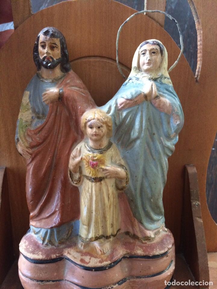 Antigüedades: Sagrada familia de barro - Foto 3 - 234906835