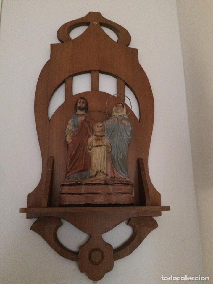 SAGRADA FAMILIA DE BARRO (Antigüedades - Religiosas - Varios)