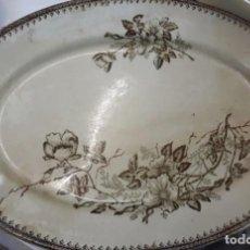 Antigüedades: FUENTE PORCELANA SANDEMAN MACDOUGALL XIX. Lote 234912110