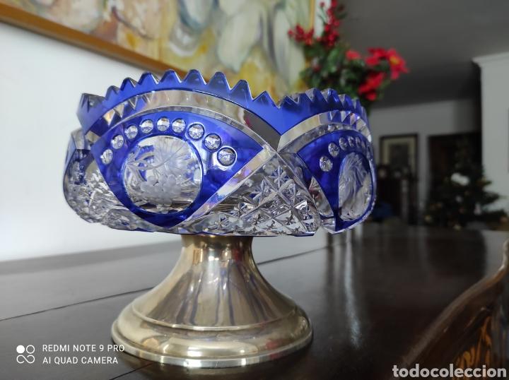 Antigüedades: Centro plata y cristal - Foto 2 - 234925190