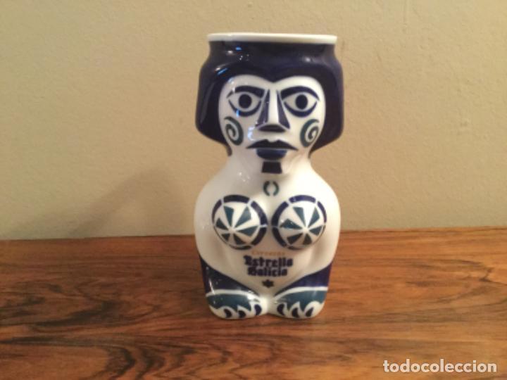 JARRA CERVEZA SARGADELOS ESTRELLA GALICIA. ISAAC DIAZ PRADO. ASAMBLEA 2000 (Antigüedades - Porcelanas y Cerámicas - Sargadelos)