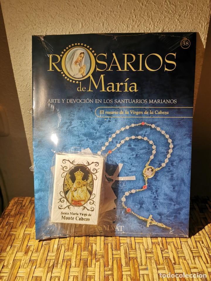 ROSARIO BEATA MARÍA VIRGO MONTE CABEZO COLECION SALVAT (Antigüedades - Religiosas - Rosarios Antiguos)