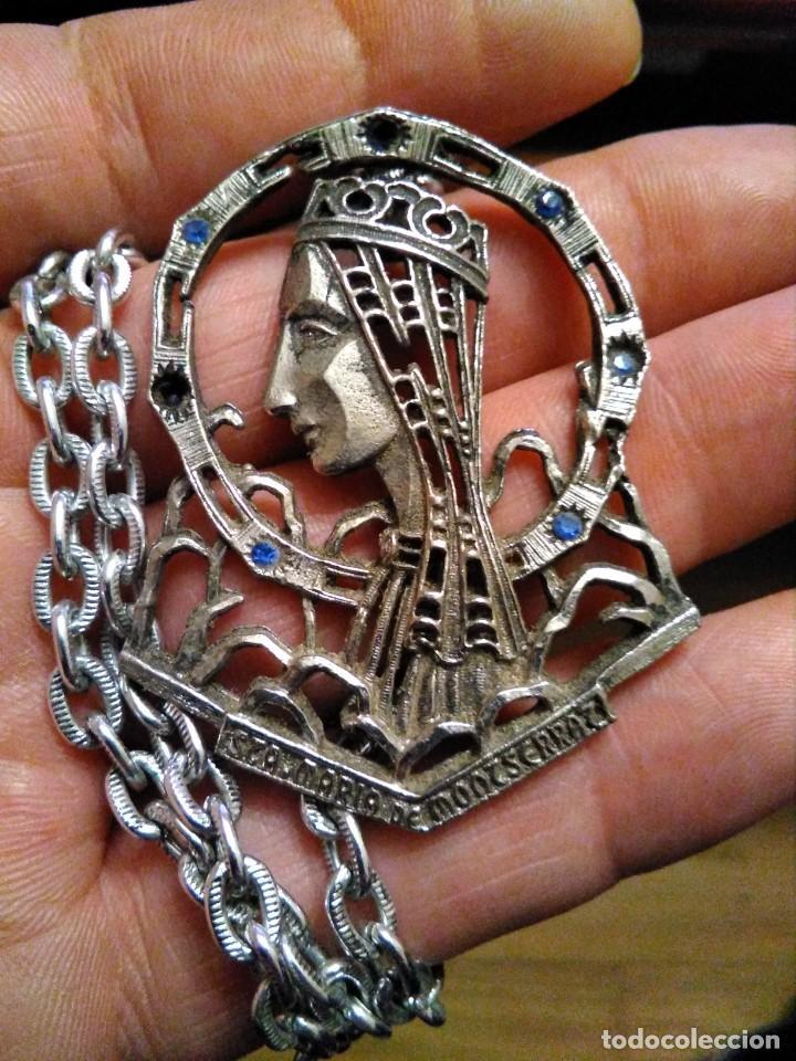 GRAN MEDALLA PATRONA CATALUNYA STA MARÍA MONTSERRAT (Antigüedades - Religiosas - Medallas Antiguas)