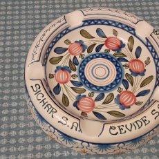 Antigüedades: CENICERO DE GRAN TAMAÑO, FIGAS, RIBESALVES , 25 CM. Lote 234961670