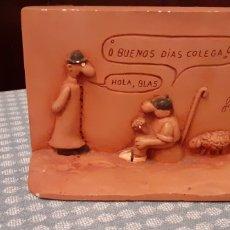 Antigüedades: FIGURAS DE TERRACOTA, FORGES, AÑOS 80, 16X 11X 5 CM. Lote 234965130