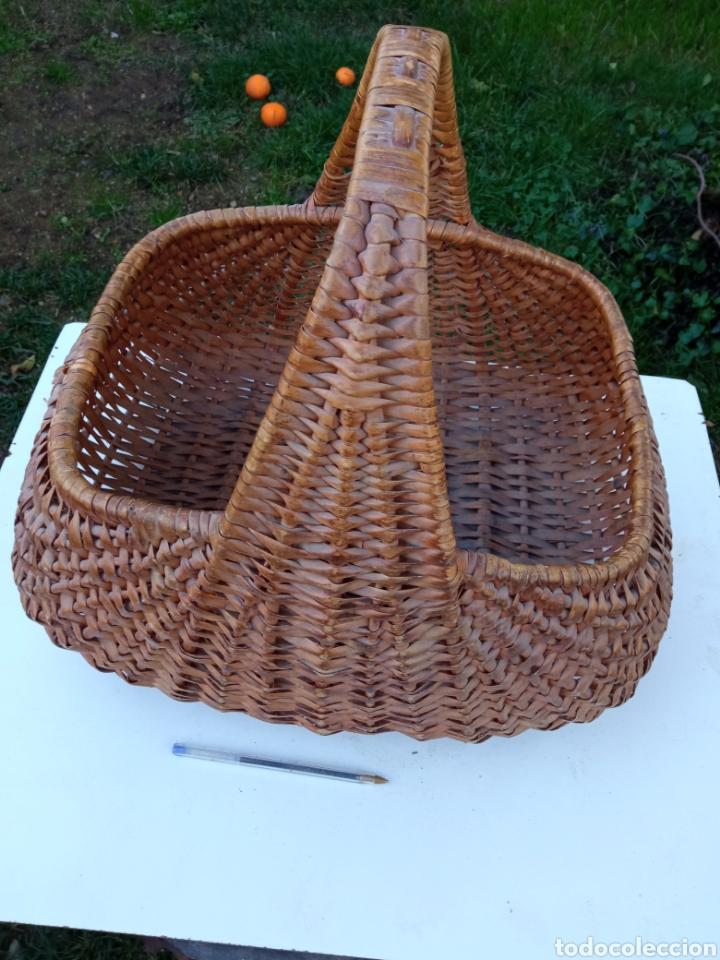 Antigüedades: Cesta de recoger setas. - Foto 3 - 234967290