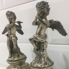 Antigüedades: ANTIGUOS SUJETALIBROS FRANCESES BRONCE PLATEADO SIGLO XIX. Lote 234996935