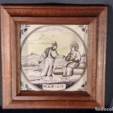 Oggetti Antichi: AZULEJO. CERÁMICA. DELFT. HOLANDA. SIGLO XVIII.. Lote 235062610