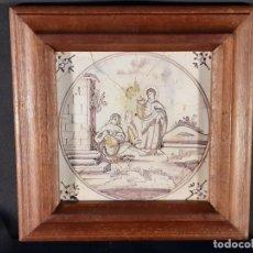 Oggetti Antichi: AZULEJO. CERÁMICA. DELFT. HOLANDA. SIGLO XVIII.. Lote 235064095